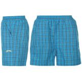 Slazenger Check Shorts Infant Boys Blue