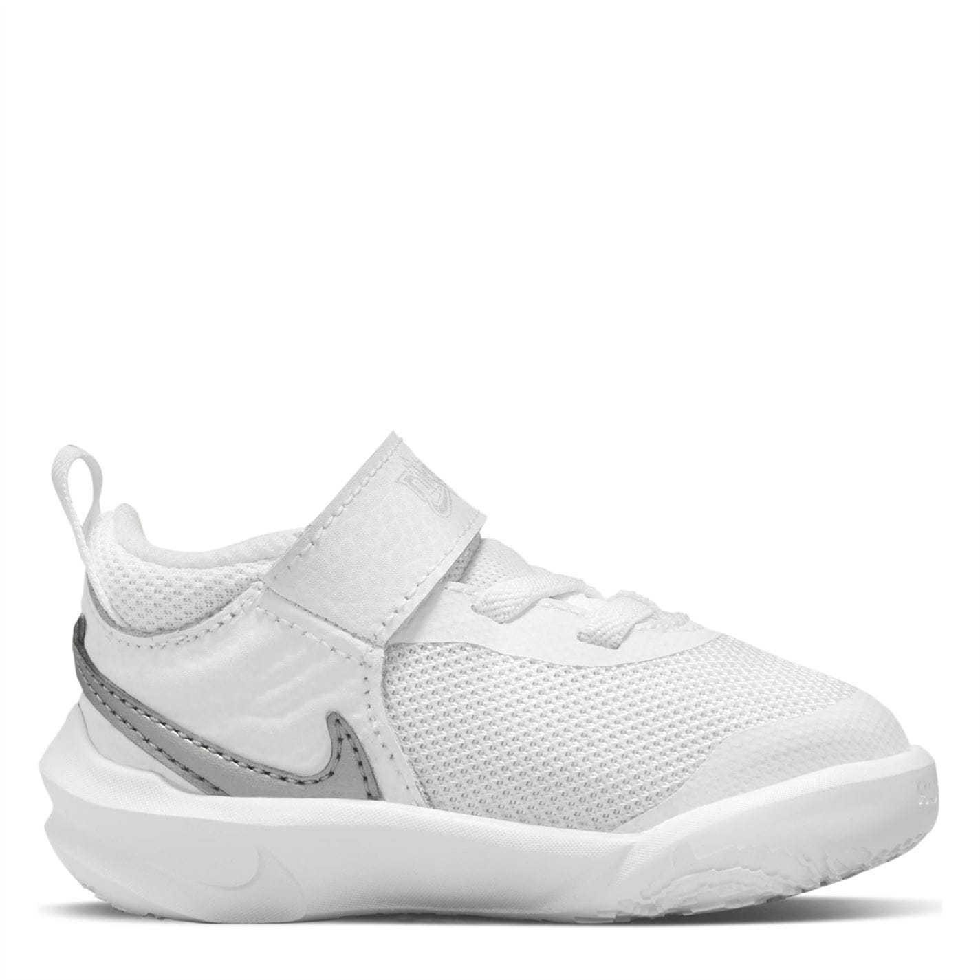 Nike Team Hustle D 10 Baby/Toddler Shoes White/Silver