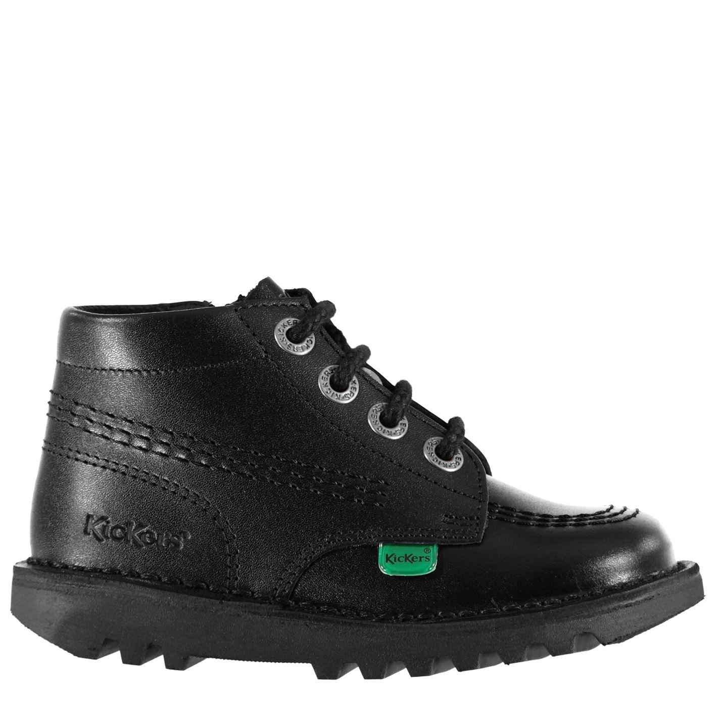 Kickers Kickers Infants Hi Boots Black leather