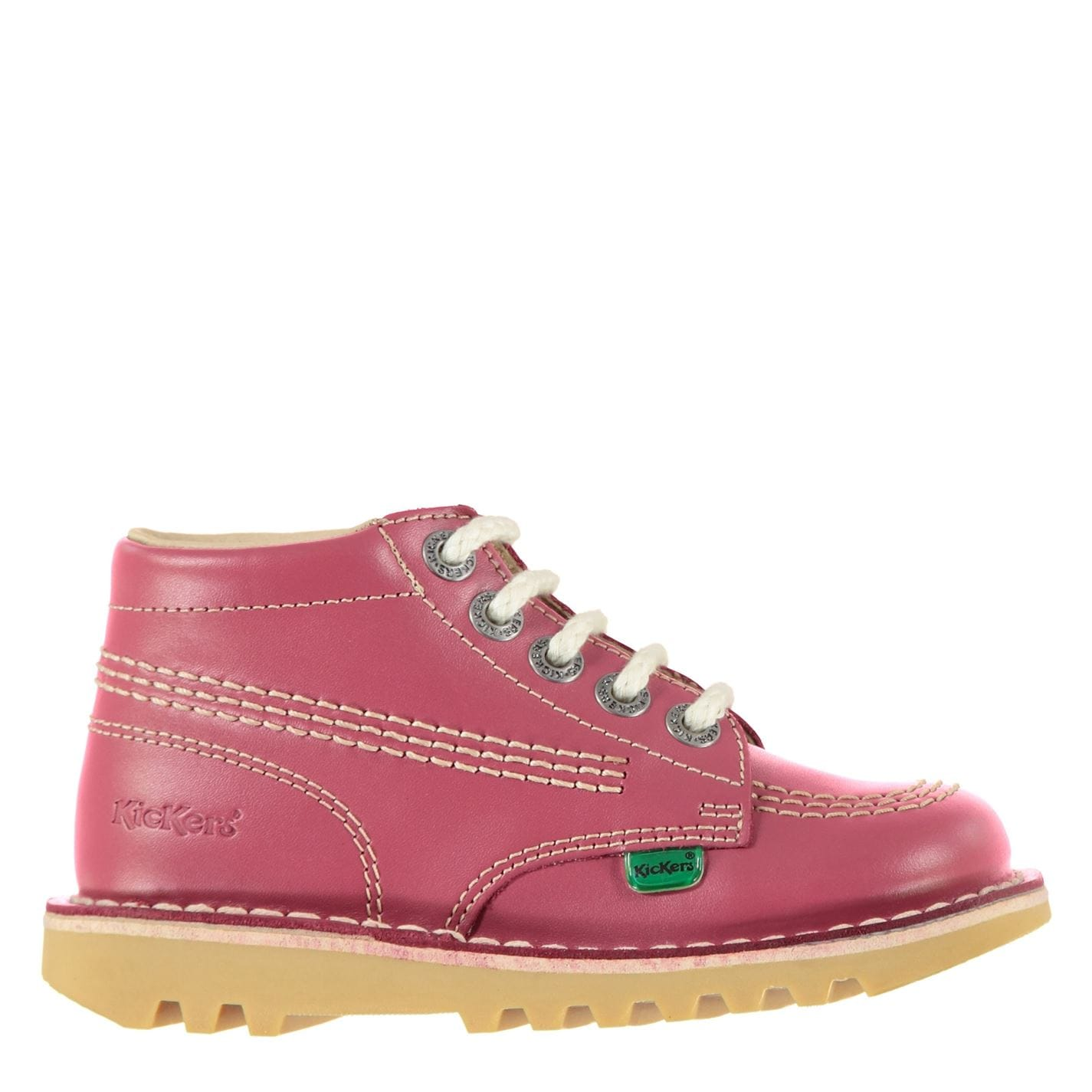 Kickers Kickers Infants Hi Boots Pink Leather