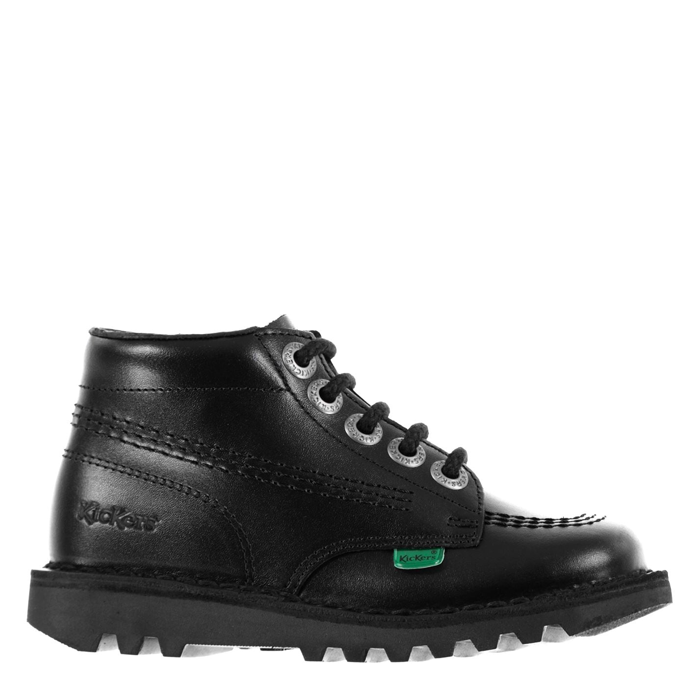 Kickers Kickers Childrens Hi Boots Black leather