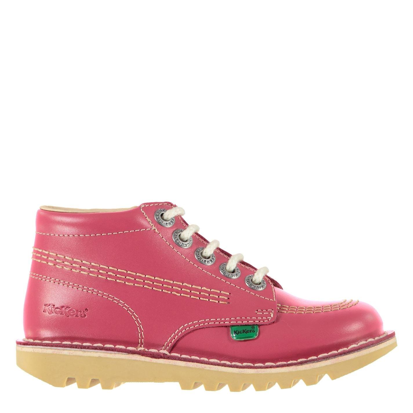 Kickers Kickers Childrens Hi Boots Pink Leather