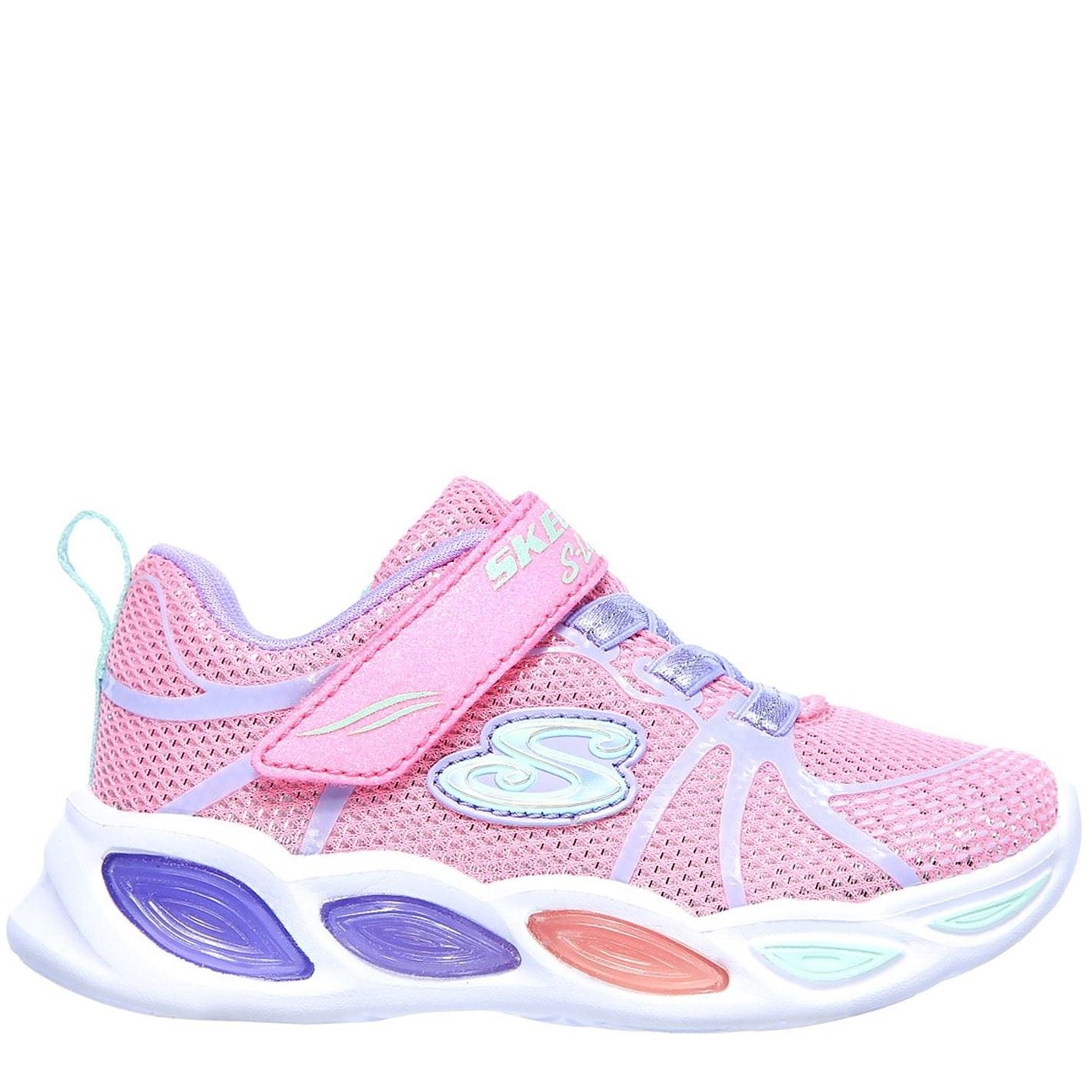 Skechers Shimmer Light Up Trainers Pink/Multi