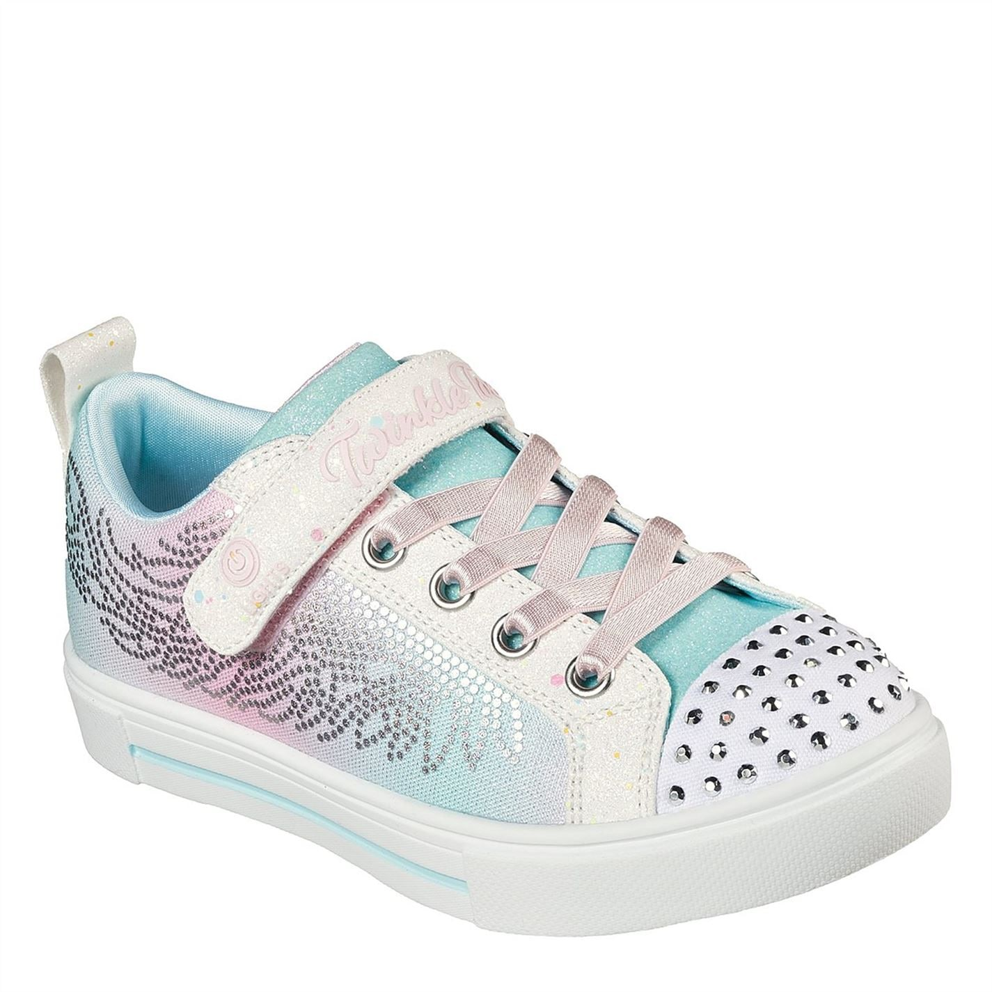 Skechers Twinkle Toes Trainers Infant Girls White/Multi