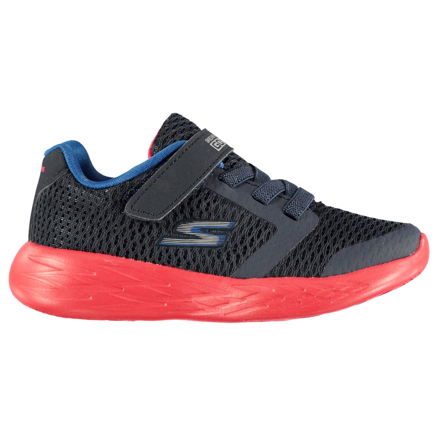 Skechers GoRun 600 Infant Trainers Navy/Red