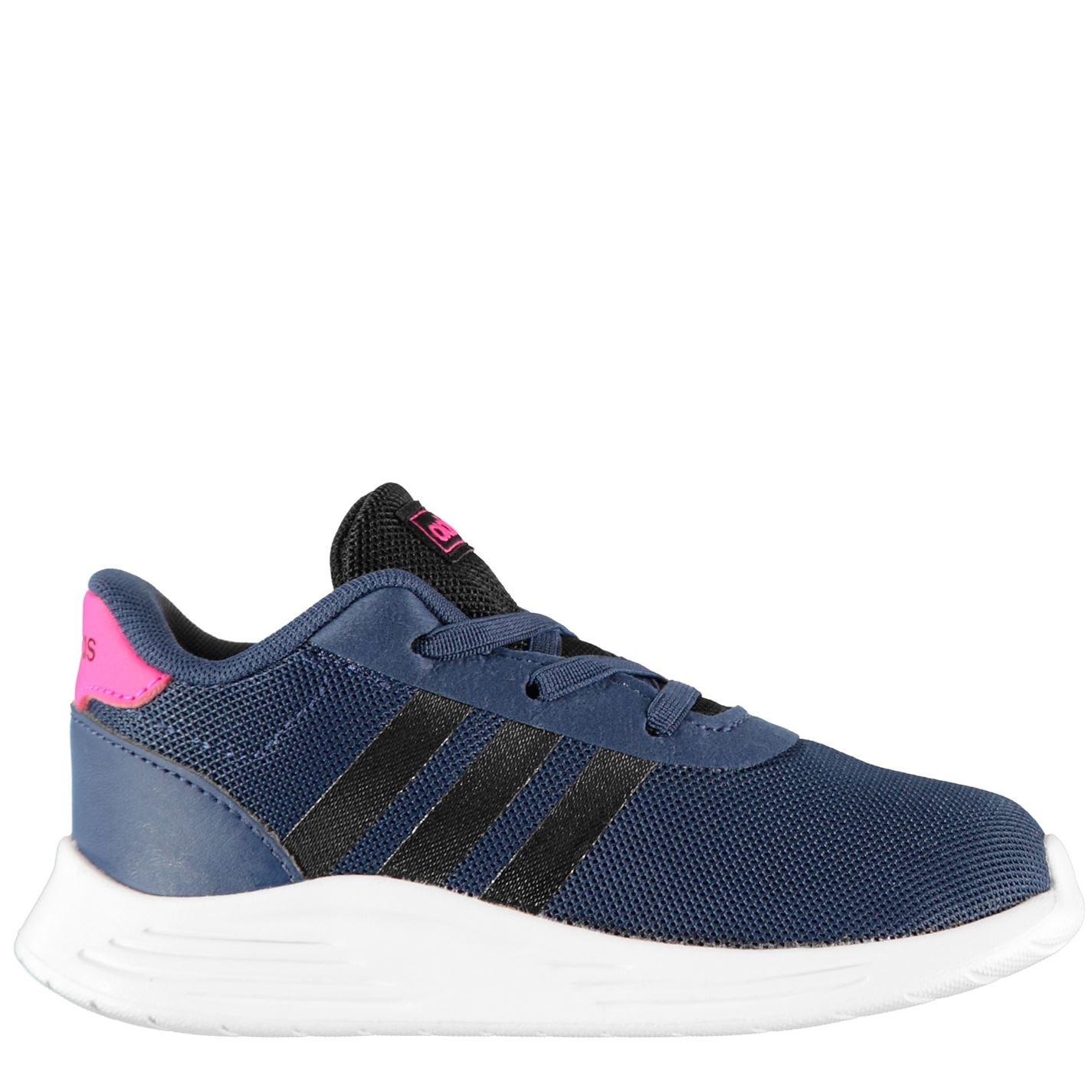 adidas Lite Racer 2 Infant Girls Trainers Navy/Blk/Pink