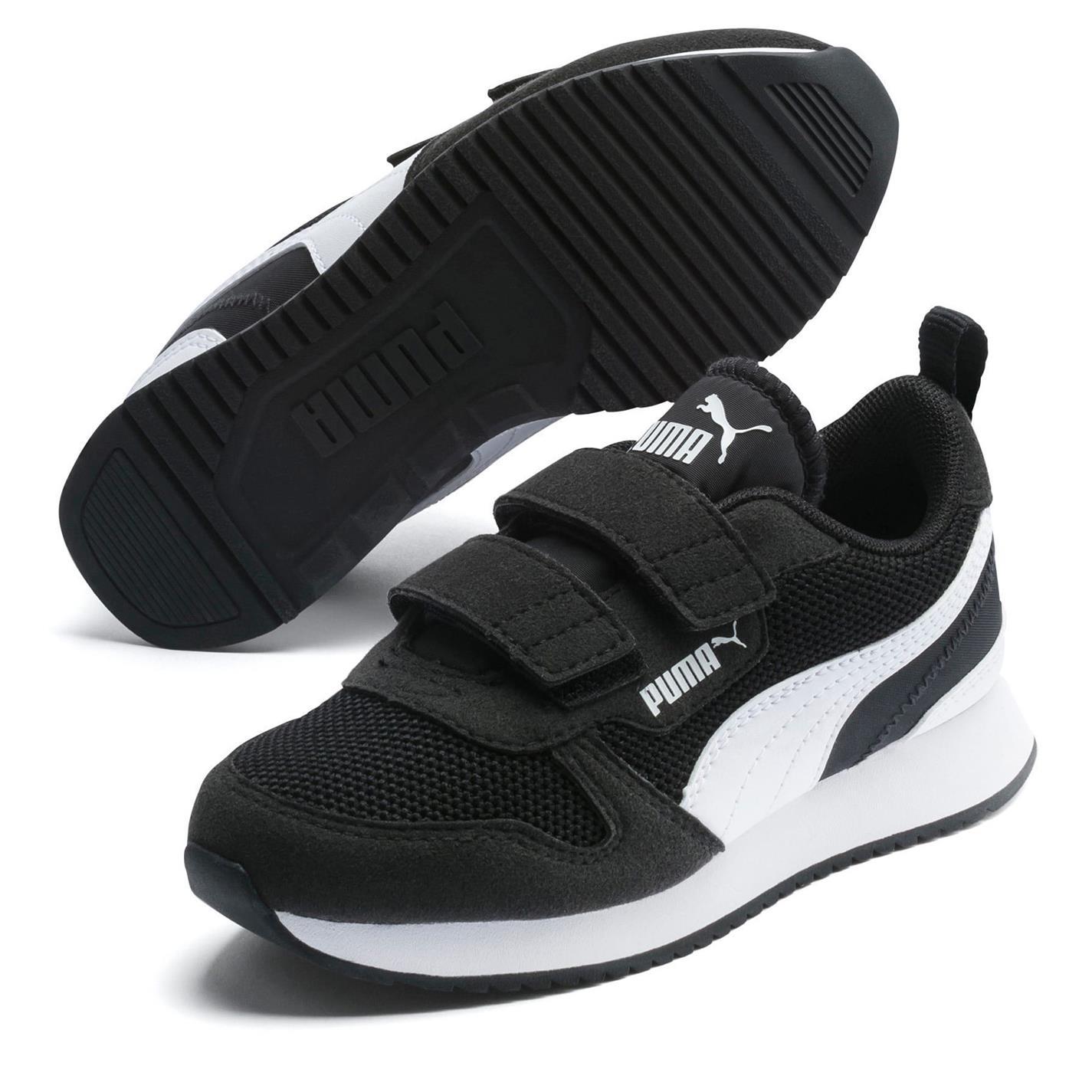 Puma R78 Runner Trainers Child Boys Black/White