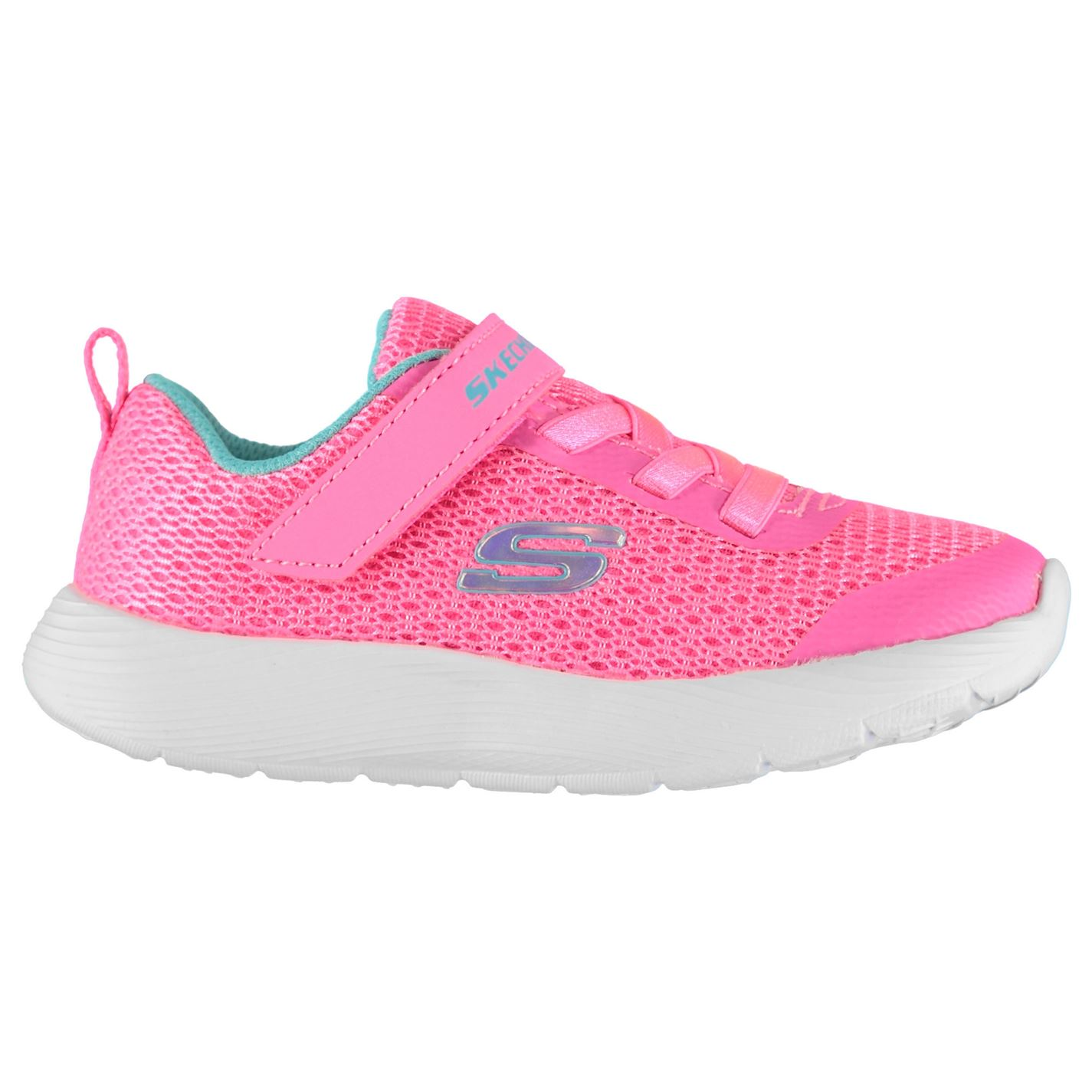 Skechers Dyna Lite Infant Girls Trainers Pink/Blue
