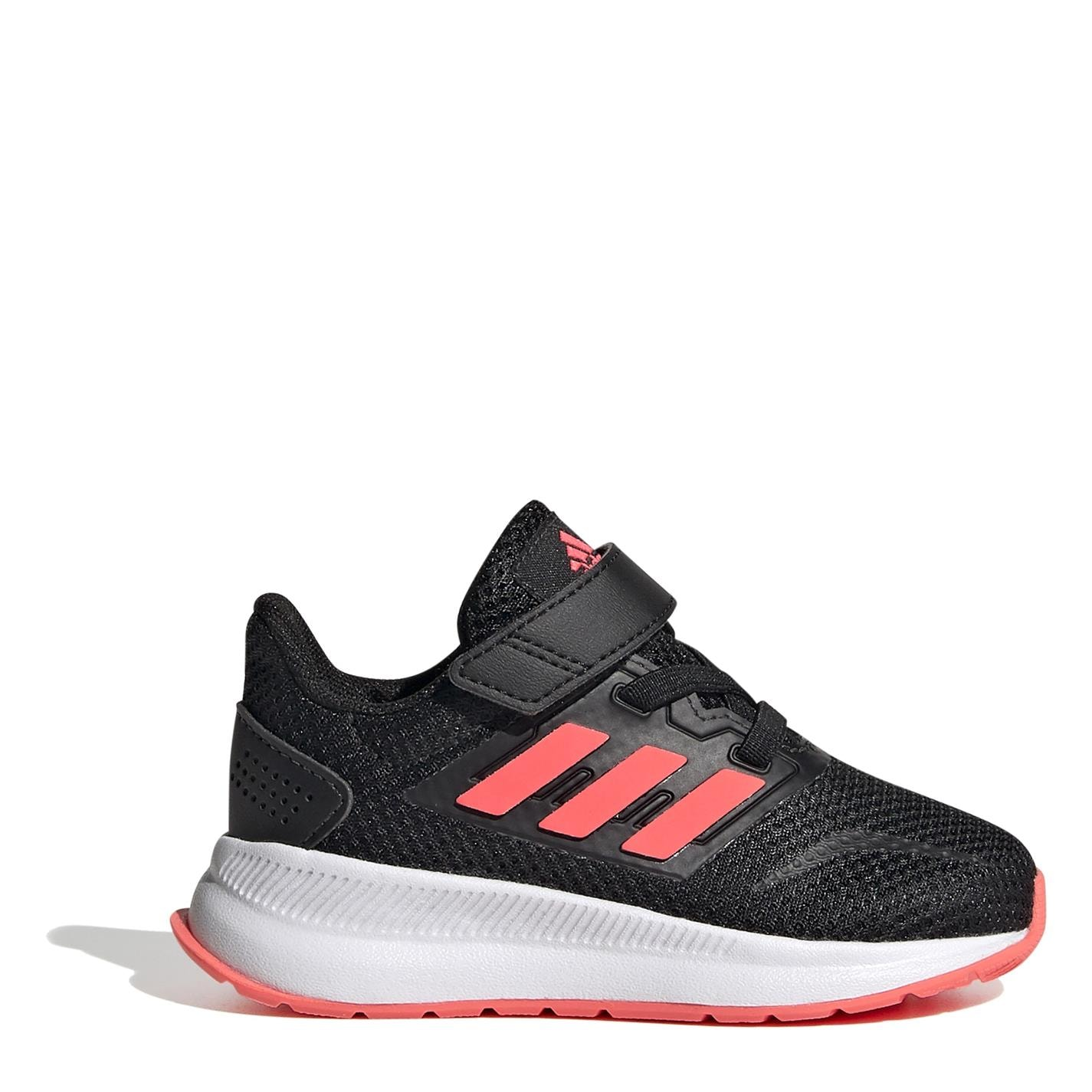 adidas Falcon CF Infant Girls Trainers Blk/Pink/Wht