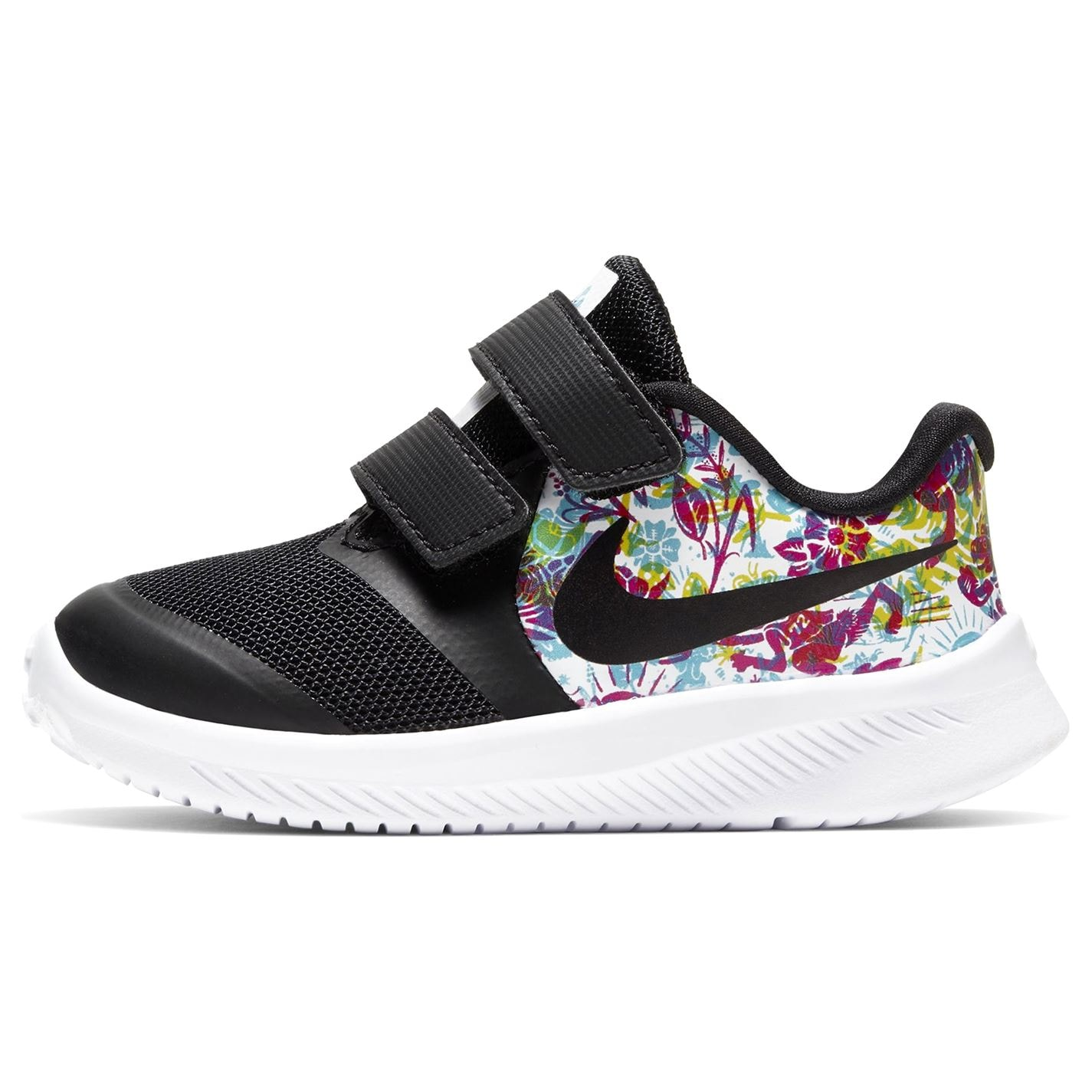 Nike Star Run Fable Trainers Infant Girls BLACK/BLACK-FIRE PINK-BLUE FUR