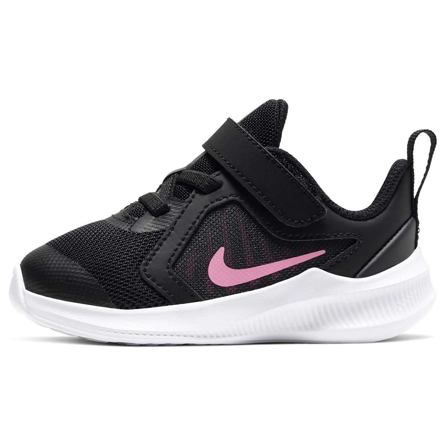 Nike Downshifter 10 Trainers Infant Girls BLACK/PINK GLOW-ANTHRACITE-WHI