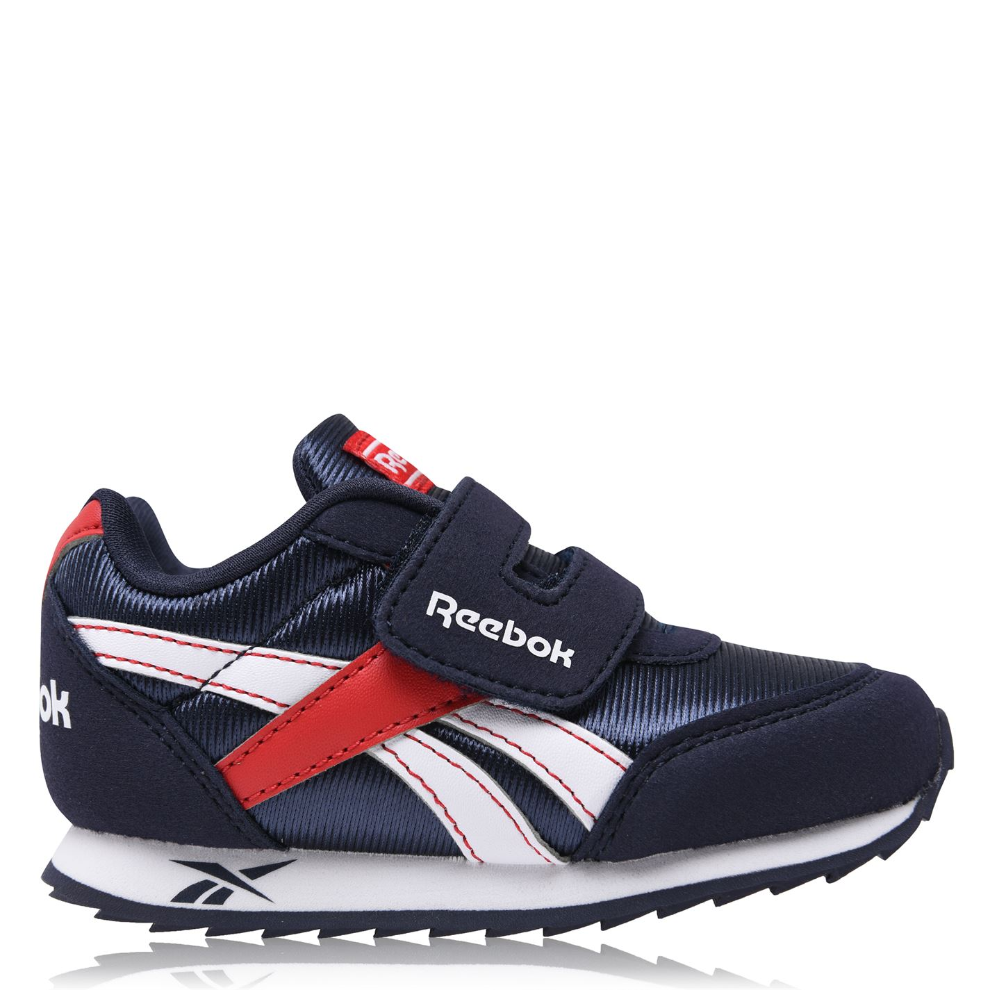 Reebok Royal Classic Boys Trainers Navy/Red