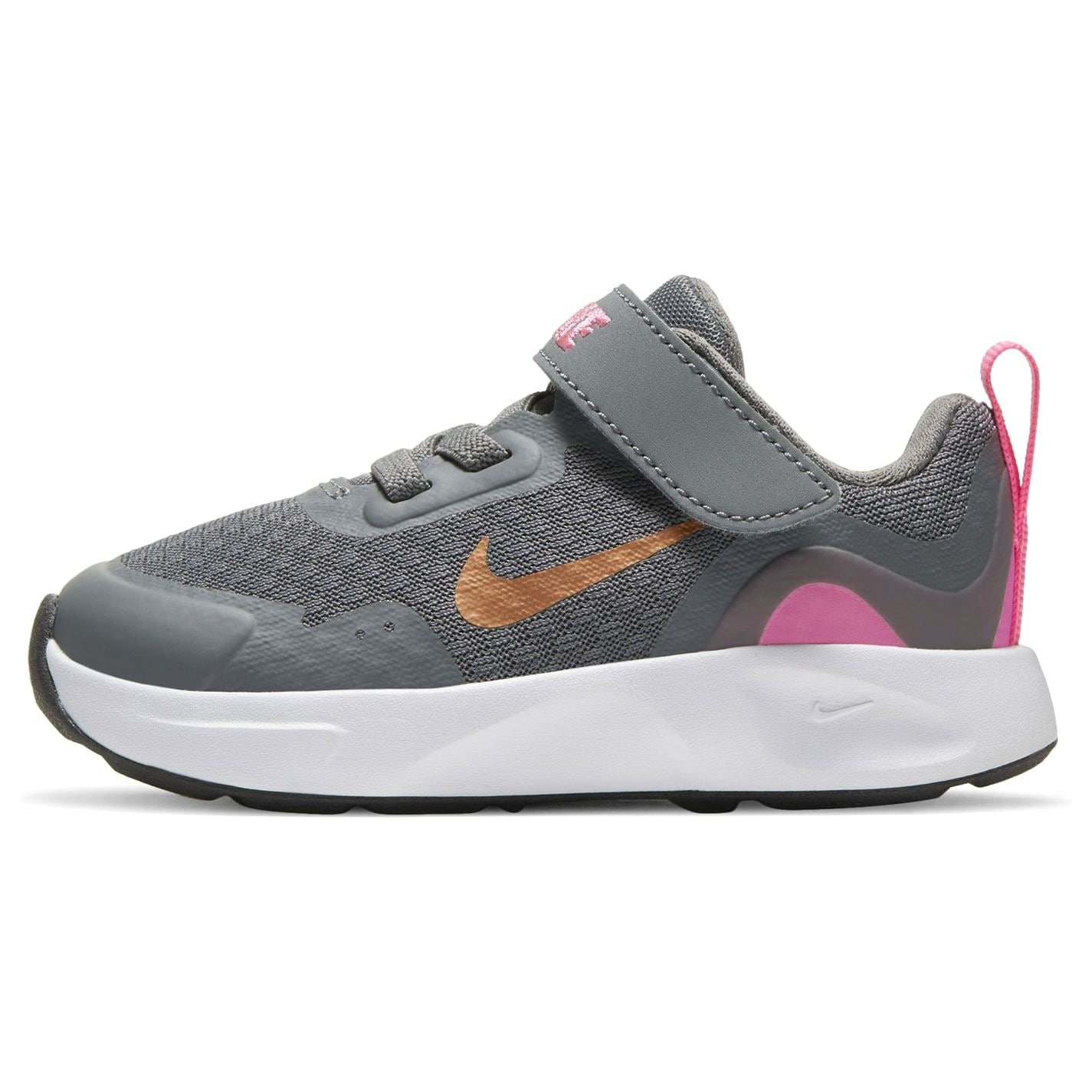 Nike Wear All Day Baby/Toddler Trainers Grey/Met/Pink