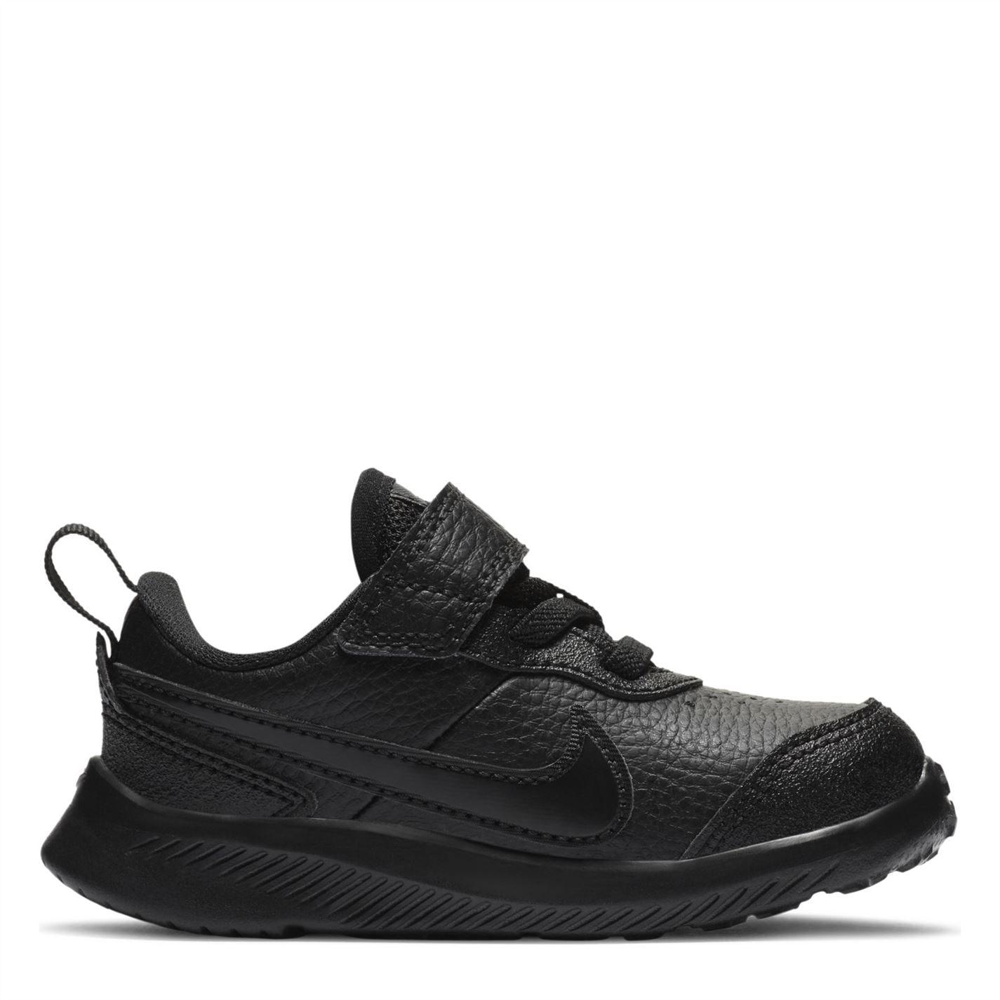Nike Varsity Leather Infant Boys Shoe Triple Black
