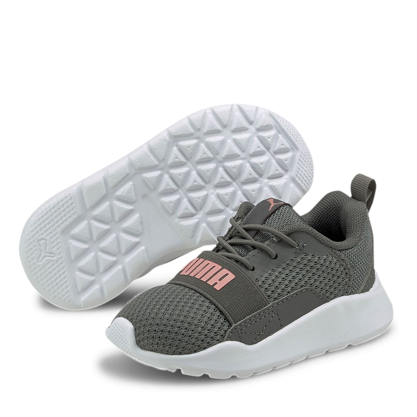 Puma Wired Infant Trainers Grey/Pink