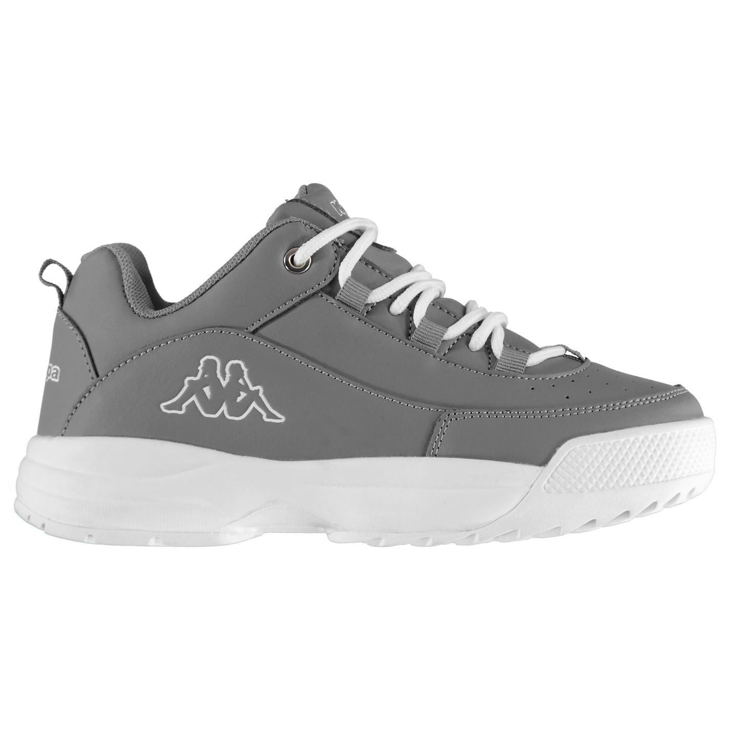 Kappa Montague Childrens Trainers Grey/White