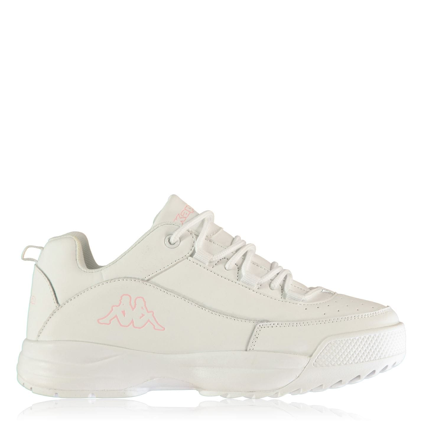 Kappa Montague Childrens Trainers White/Pink