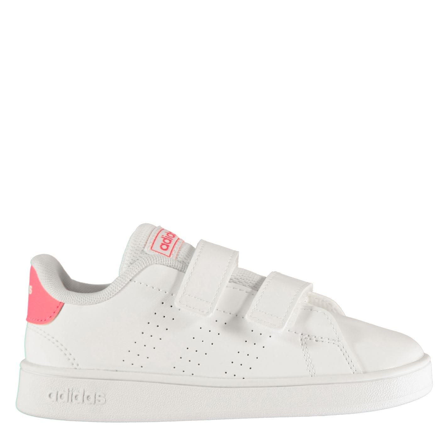 adidas adidas Advantage I Infant Girls Trainers White/Pink