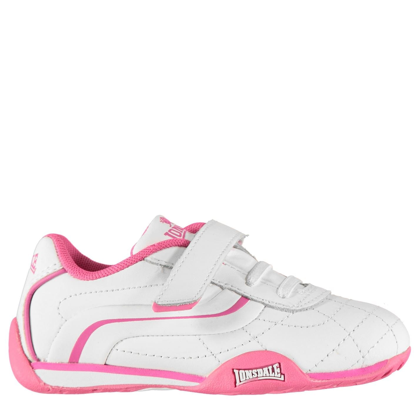 Lonsdale Camden Infants Trainers White/Cerise