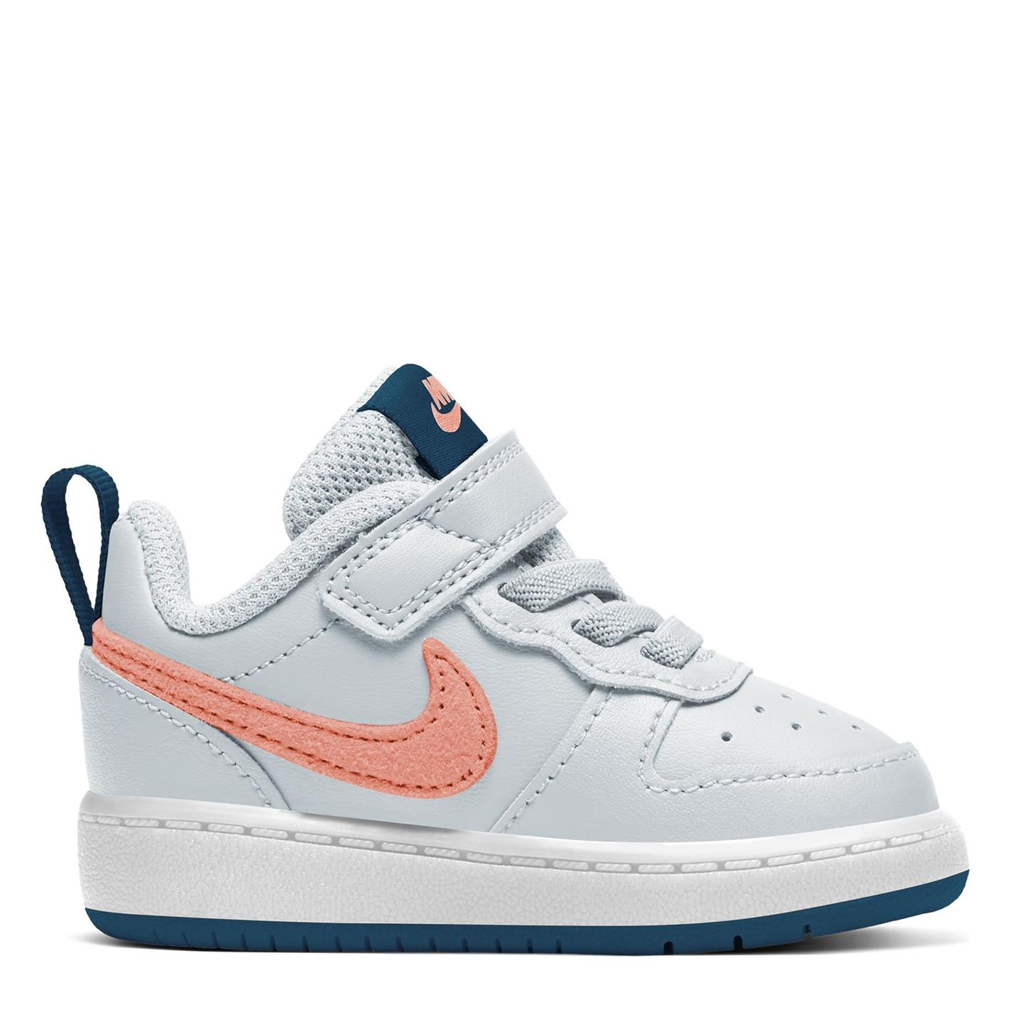 Nike Court Borough Low 2 SE Infant Trainers Grey/Pink