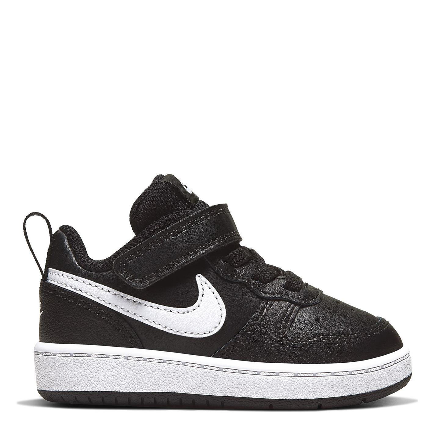 Nike Court Borough Low 2 Baby/Toddler Shoe BLACK/WHITE