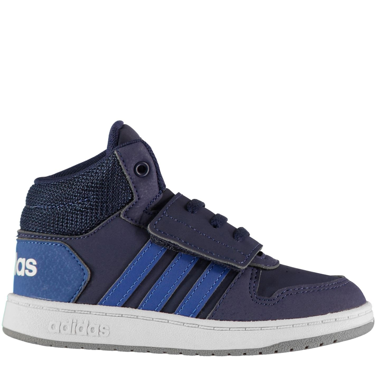 adidas Hoops High Top Trainers Infant Boys Navy/Blue/Wht
