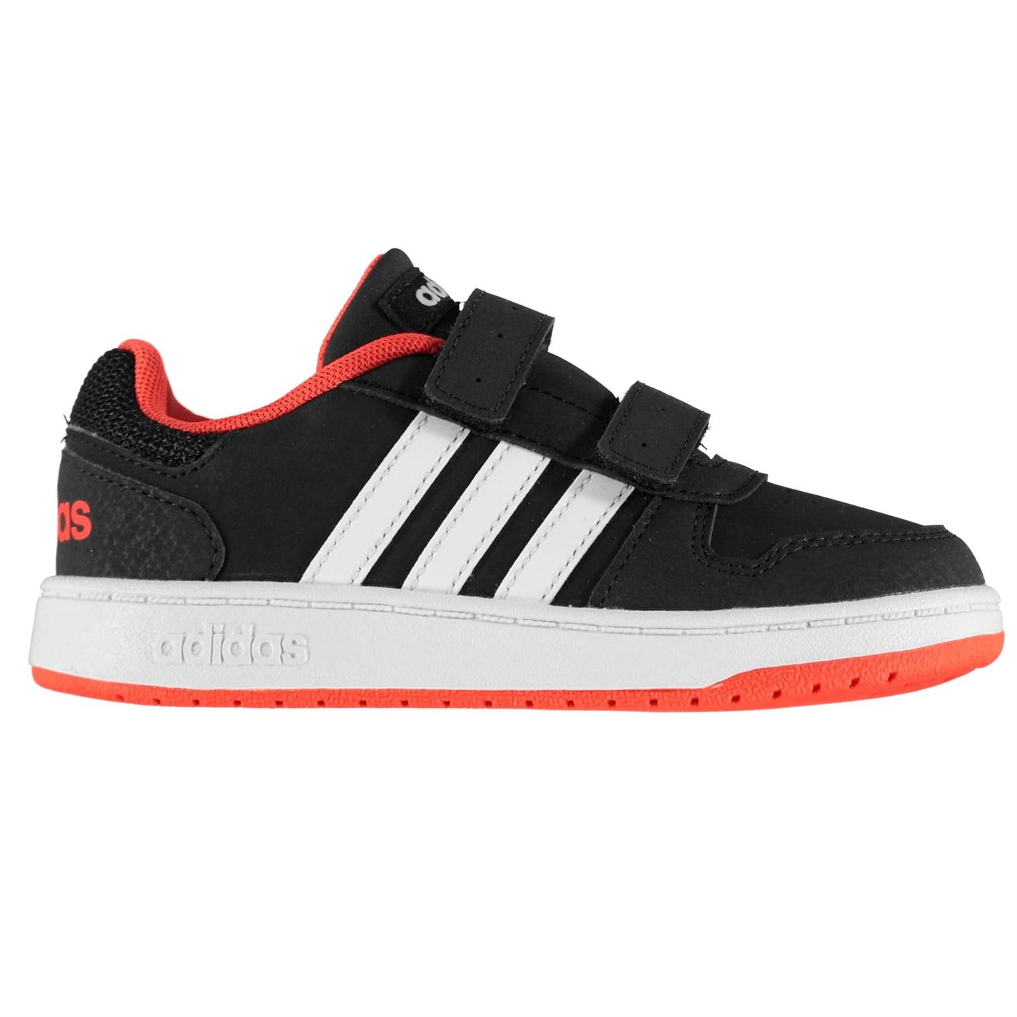 adidas adidas Hoops Infants Trainers Black/Wht/Red