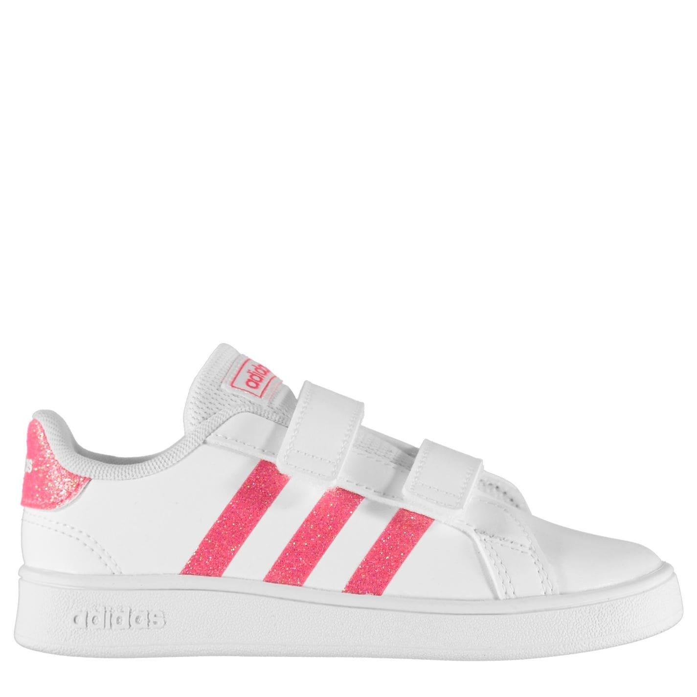 adidas adidas Grand Court Trainers Infant Girls Wht/Glitterpink