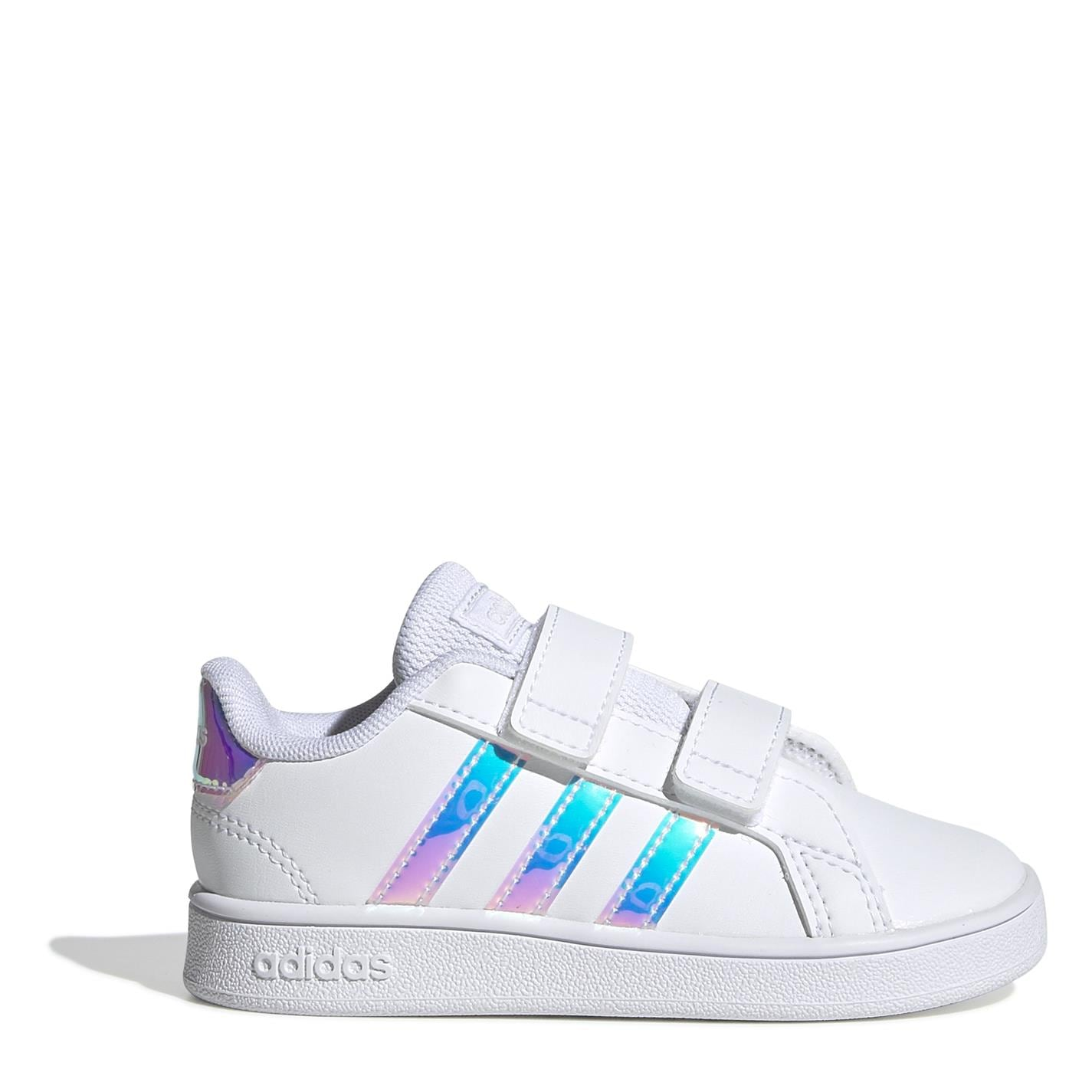 adidas adidas Grand Court Trainers Infant Girls Wht/Iridescent