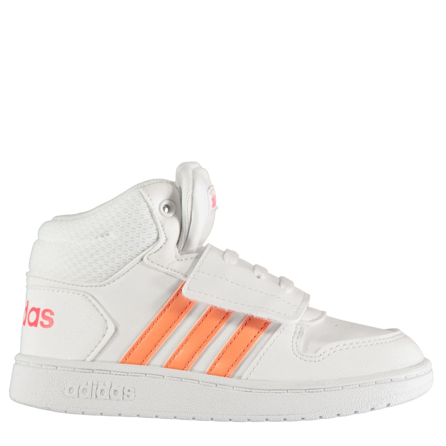 adidas Hoops Mid Infant Trainers White/Coral