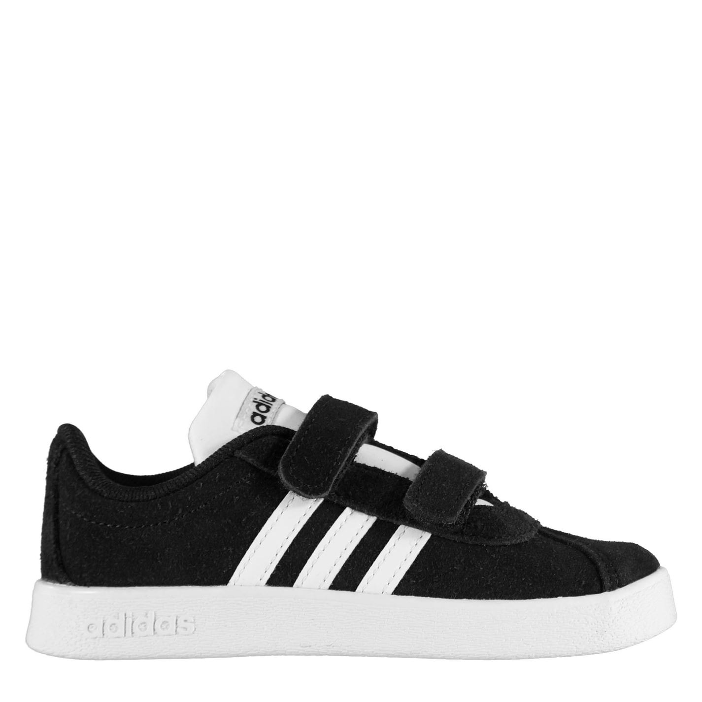 adidas VL Court Suede Trainers Infant Boys Black/White