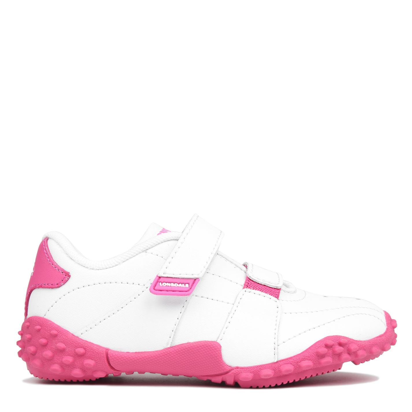 Lonsdale Fulham Infants Trainers White/Pink
