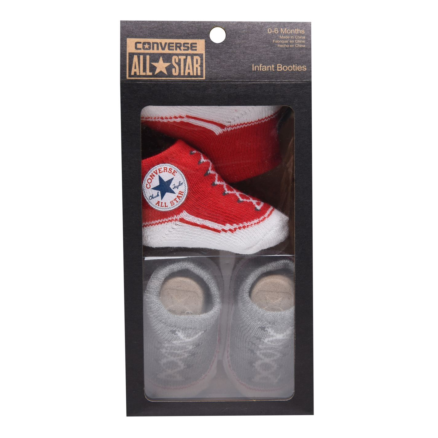 Converse Chuck Taylor All Star Crib Bootie Gift Box Red/Grey