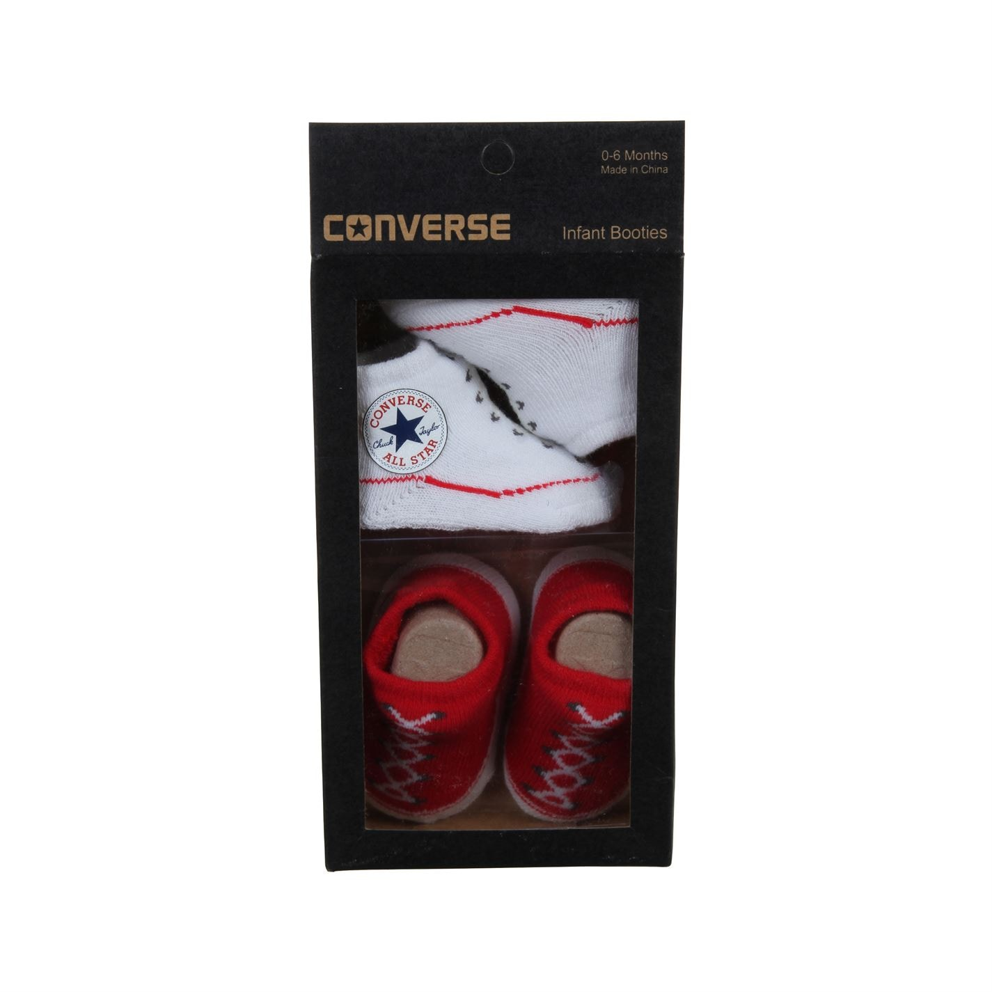 Converse Chuck Taylor All Star Crib Bootie Gift Box Red/White