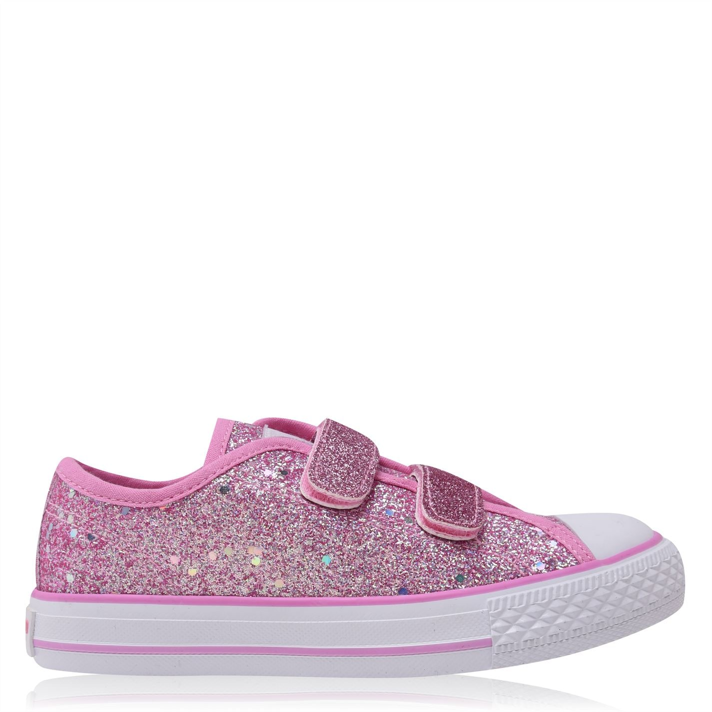 SoulCal Canvas Hook and Loop Tape Shoes Pink Glitt