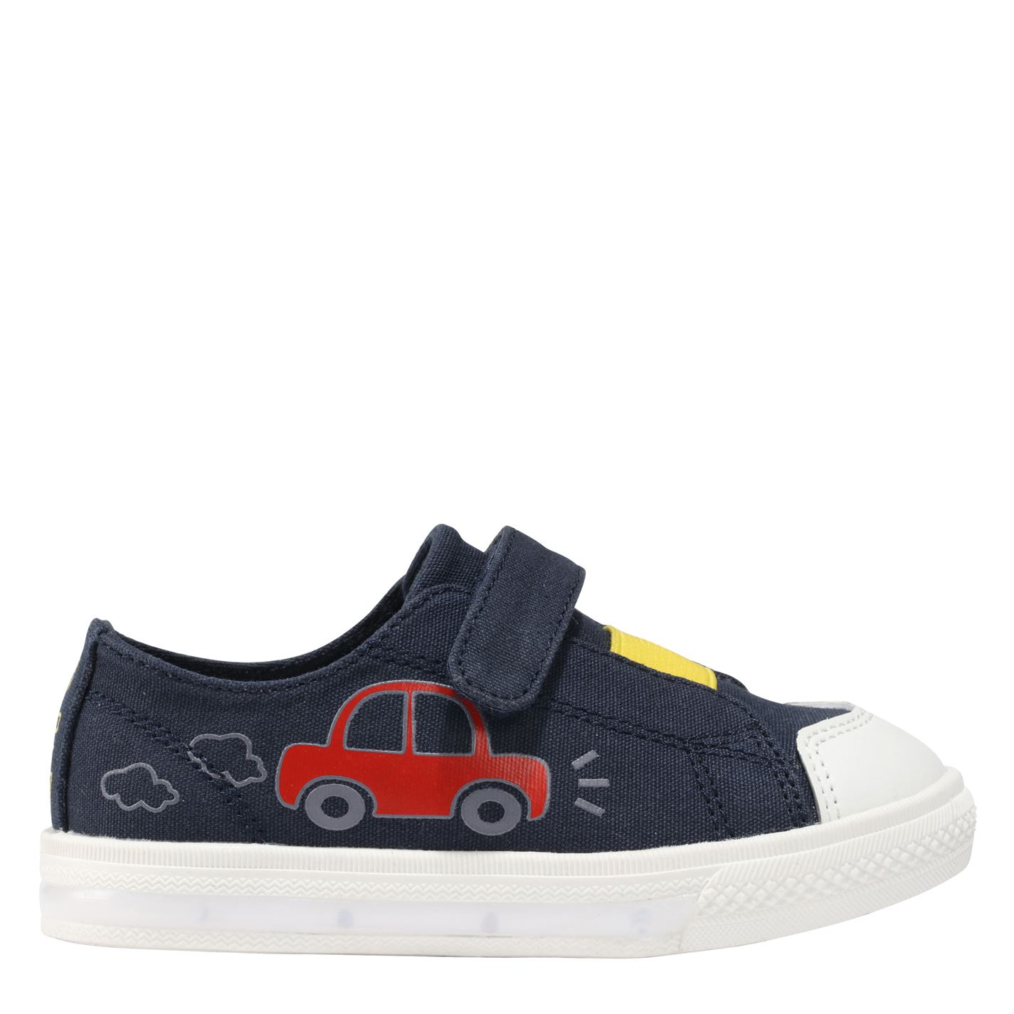 Fabric Flash Canvas Trainers Infants Navy