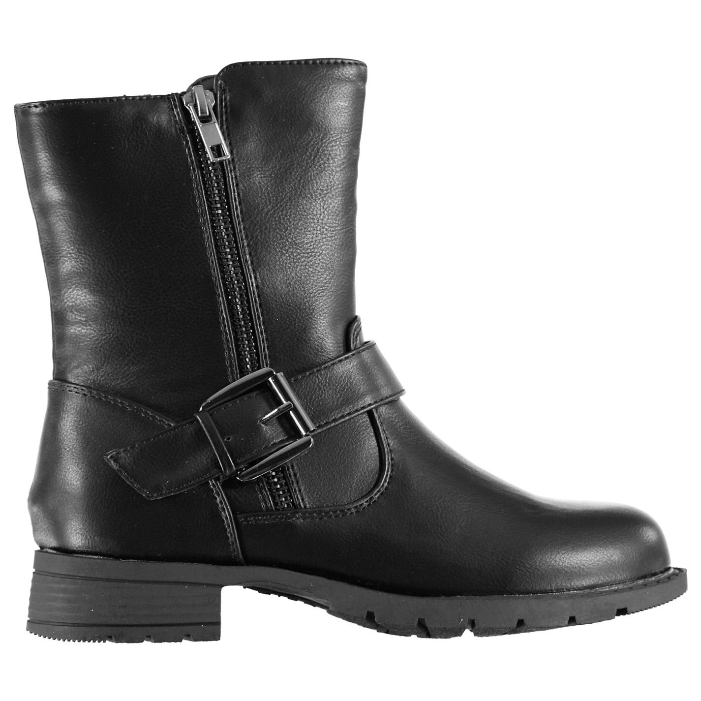 Miso Bella Biker Child Girls Boots Black