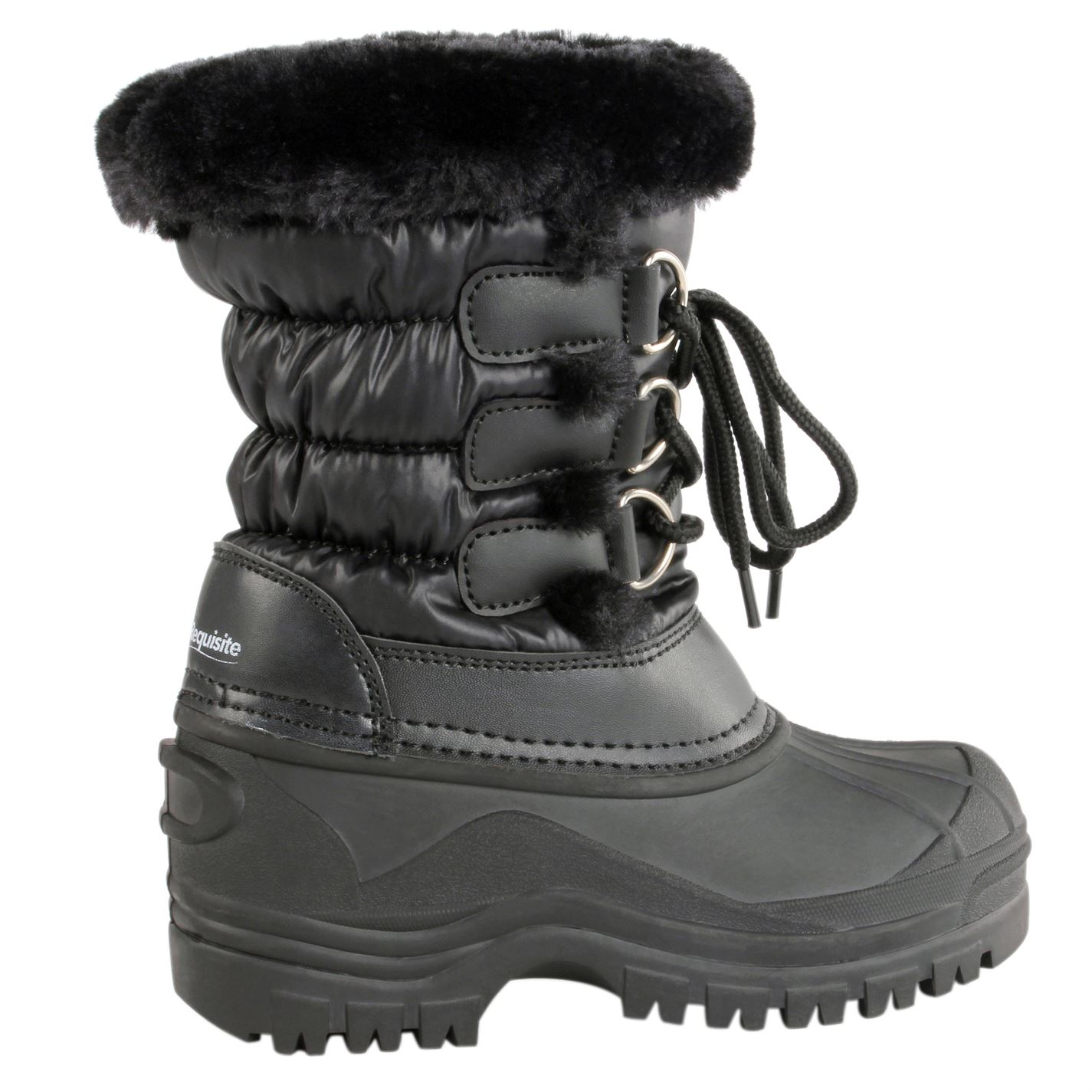 Requisite Lace Front Mucker Boot Child Black