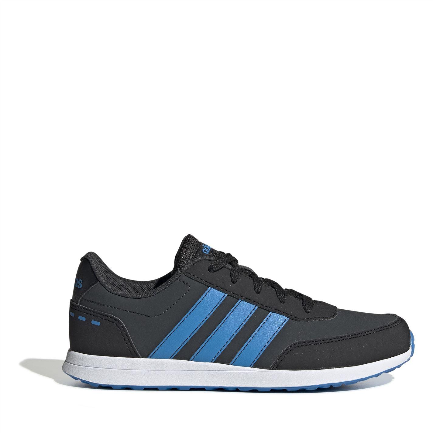adidas Switch Nubuck Child Boys Trainers Carbon/Blk/Blue