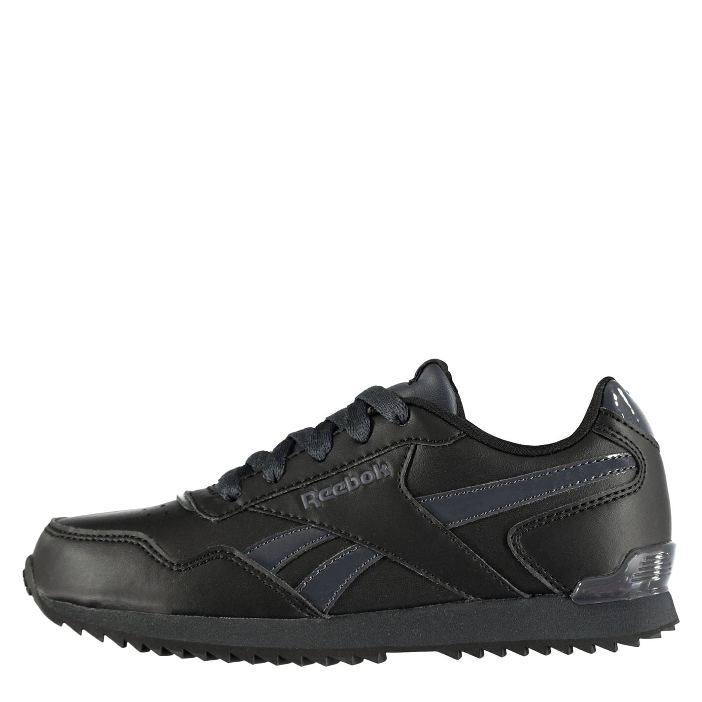 Reebok Royal Glide Ripple Clip Boys Shoes Black