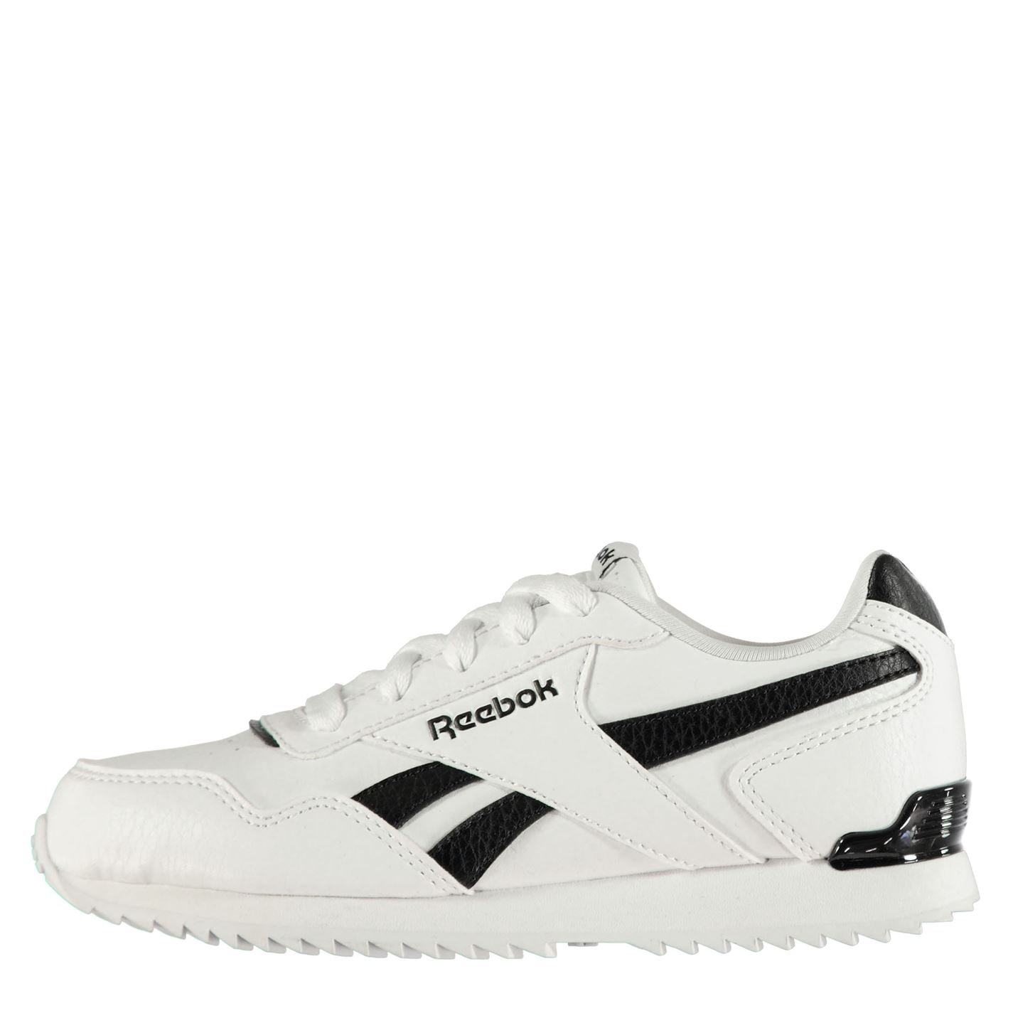Reebok Glide Rip Clip Child Boys Trainers White/Black