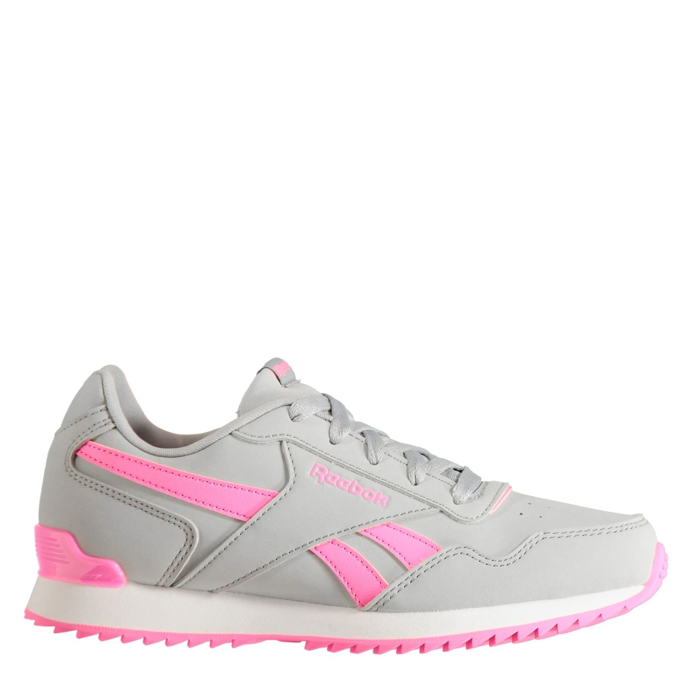 Reebok Glide Rip Clip Child Girls Trainers Grey/Pink
