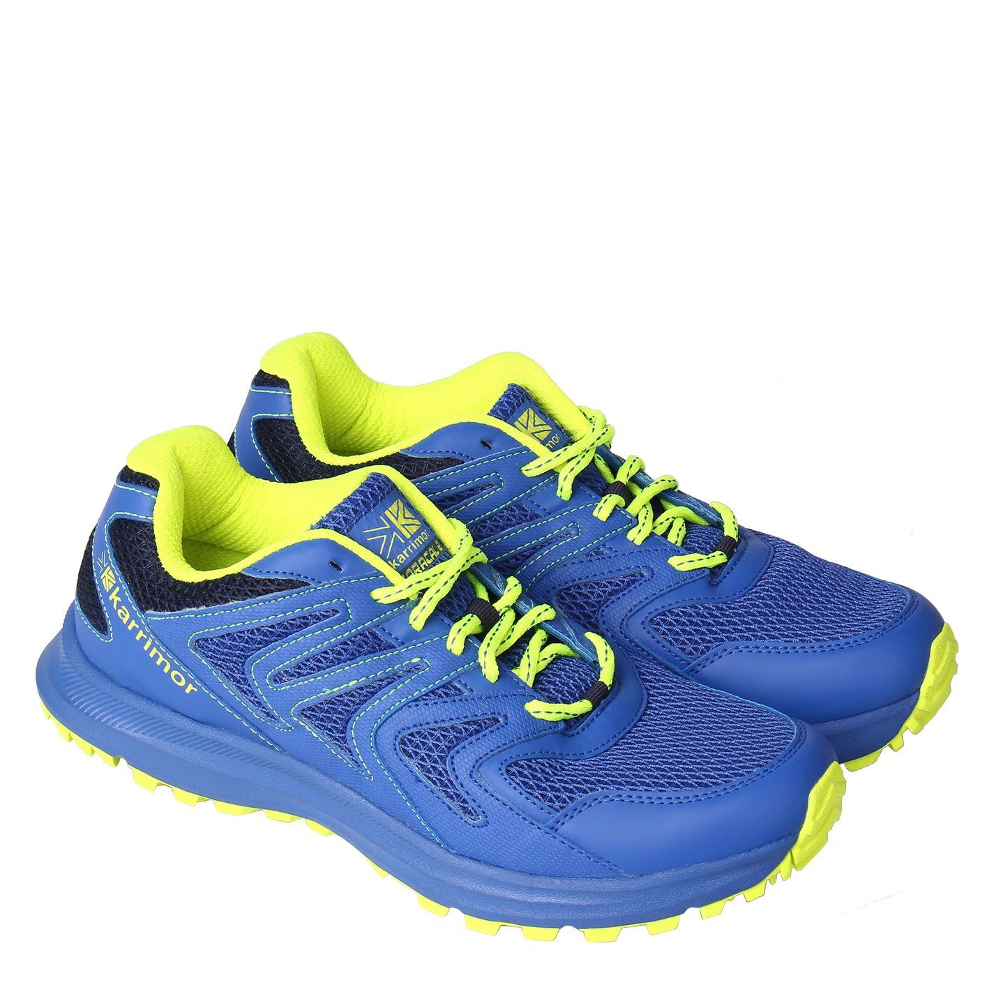 76843d893 Pánske topánky   Karrimor Caracal Mens Trail Running Shoes Blue/Lime ...