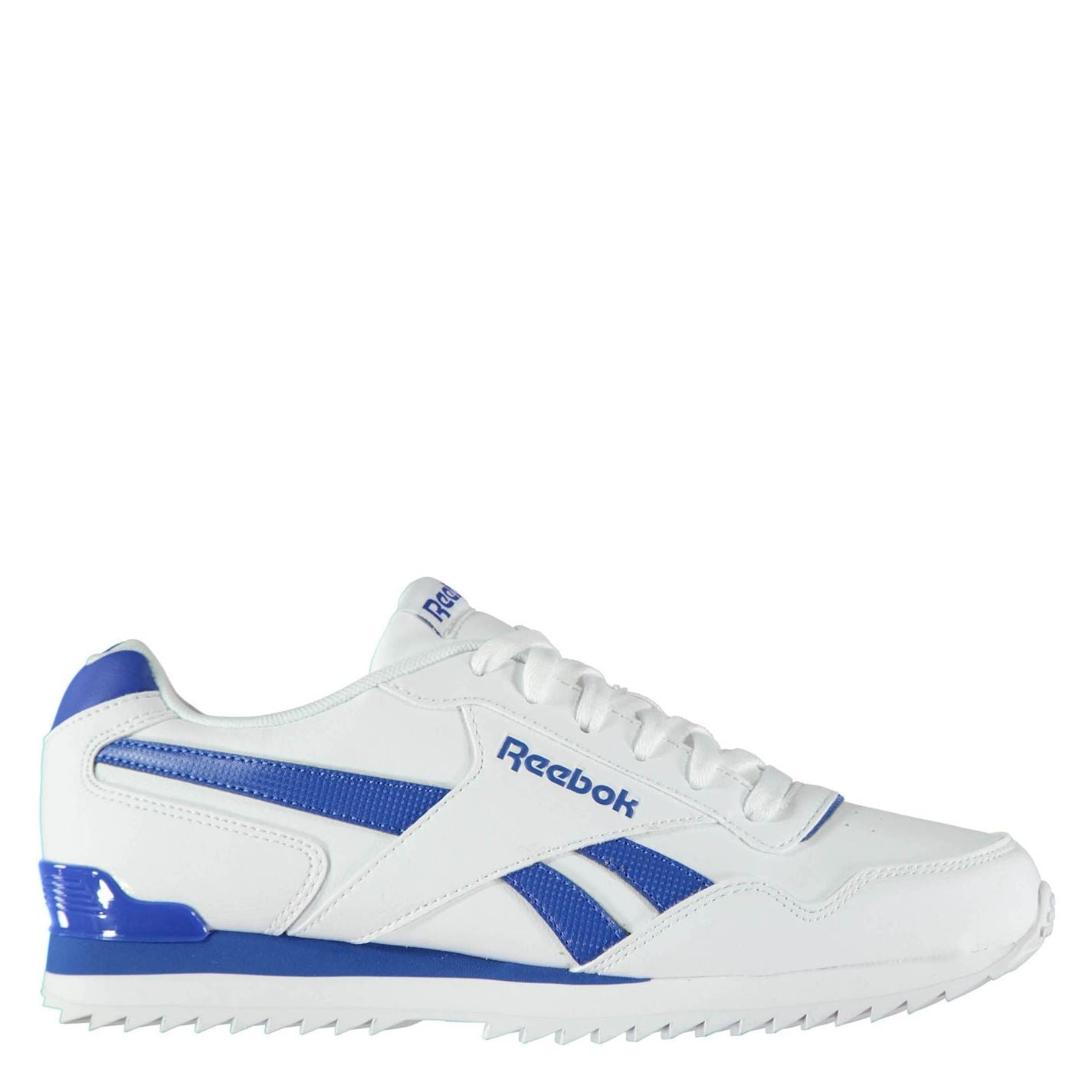 Reebok Royal Glide Ripple Clip Mens Trainers White Blue f34c23e1d3