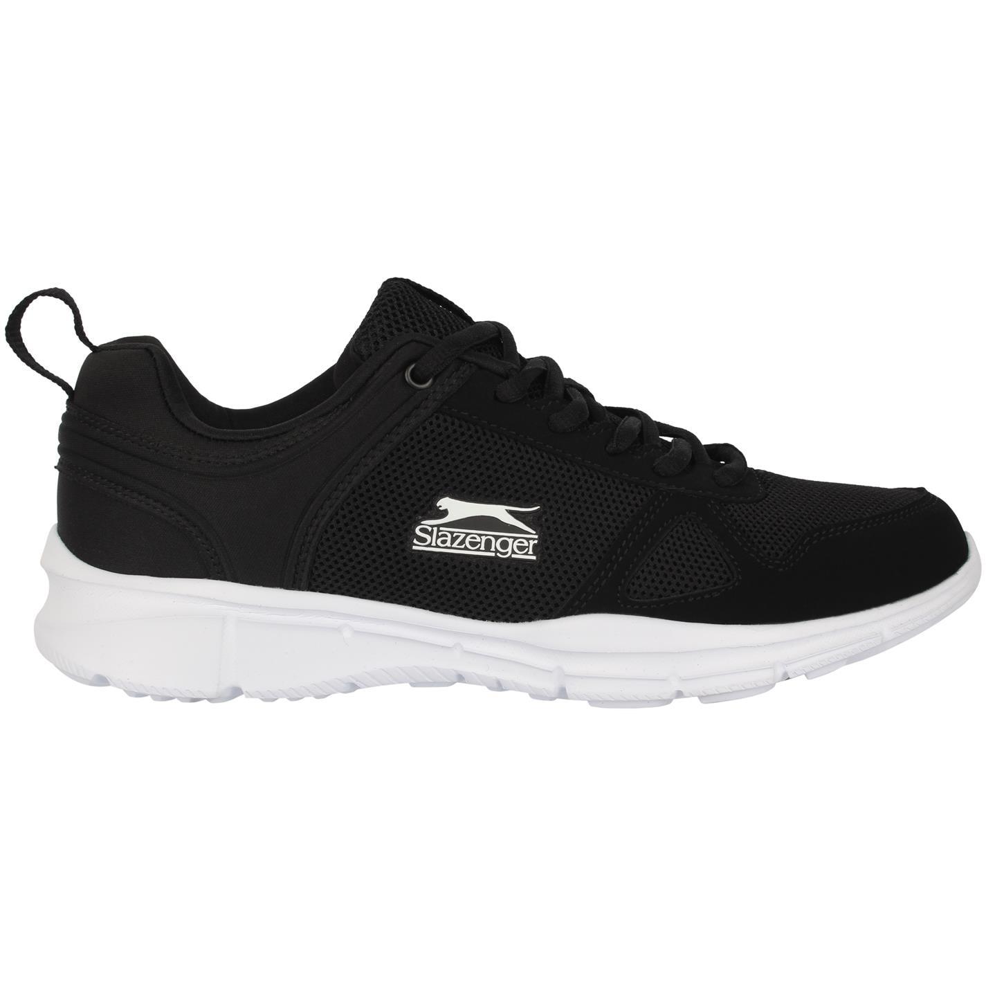 Slazenger Force Mesh Running Shoes Mens Black White 0a9cdca2f58