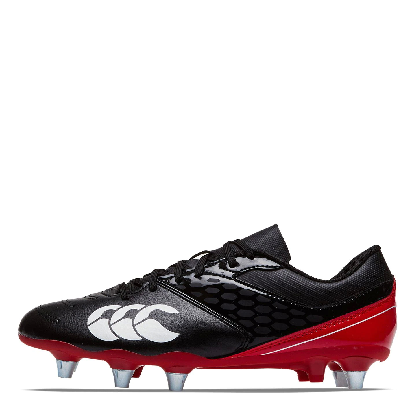 Canterbury Phoenix Rugby Boots Mens BLACK/TRUE RED