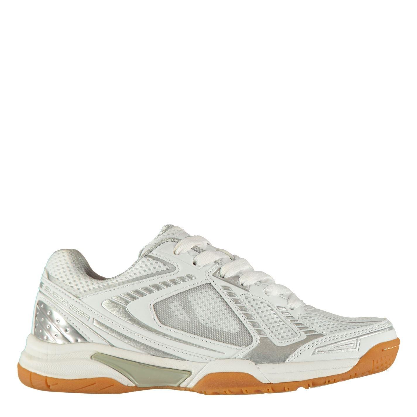 Slazenger Indoor Shoes Ladies White/Silver