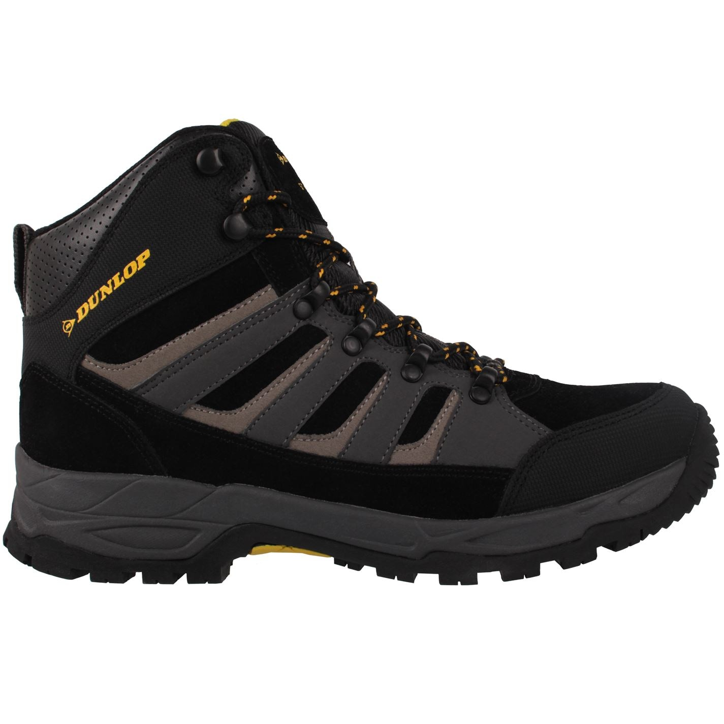 Dunlop Michigan Mens Steel Toe Cap Safety Boots Black/Charcoal