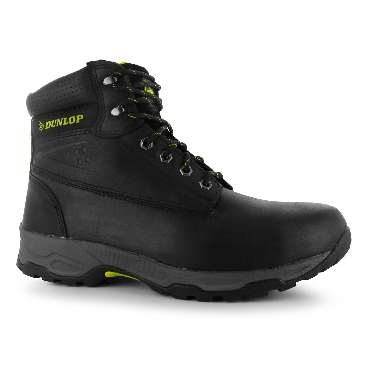 Dunlop Safety On Site Steel Toe Cap Safety Boots Black
