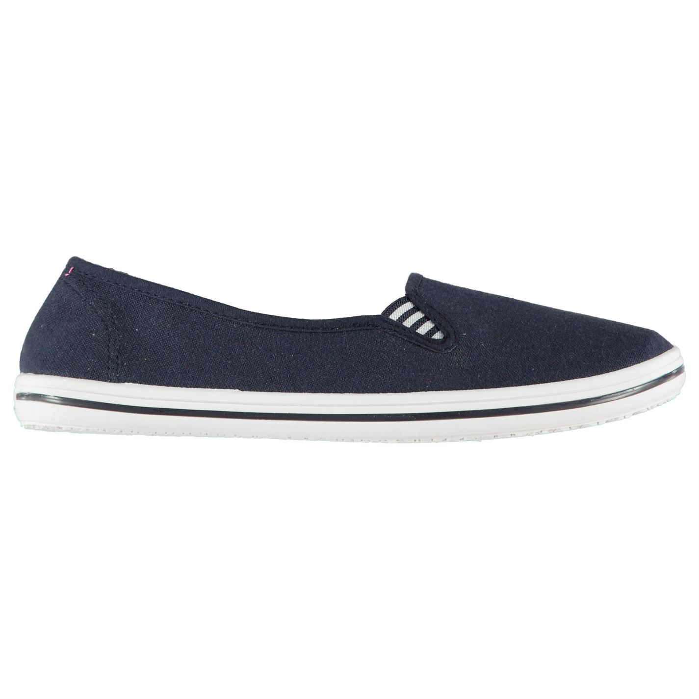 Slazenger Ladies Canvas Slip On Shoes Navy